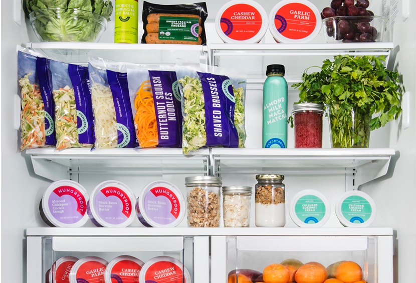 A fridge full of Hungryroot and other healthy foods