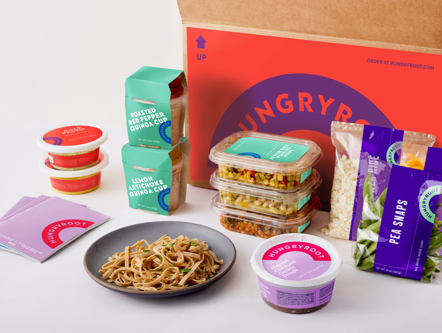 A box of healthy groceries to make meals, delivered